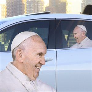 Autocollant pour voiture Pape