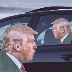AUTOCOLLANT POUR VOITUREdonald trump