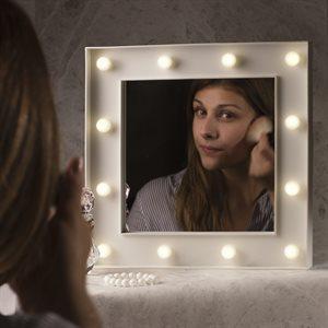 Miroir Hollywood éclairé