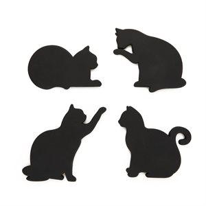 Magnetic Cat Coasters