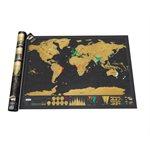 Carte mondiale à gratter deluxe