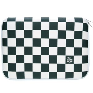 Laptop Sleeve Checker Flag - 14-15.4''- Pat Says Now