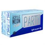 Neon Acrylic Light Box-Party
