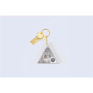 Aqua Silver Glitter keychain