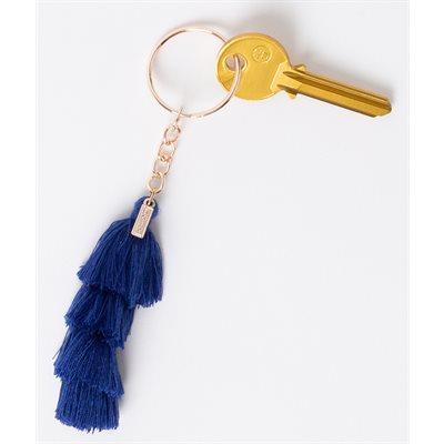 Tassels Dark Blue Keychain