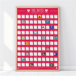 Bucket List Poster - 100 Dates to go on