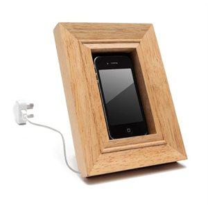 Frame Wooden Cell Phone Holder