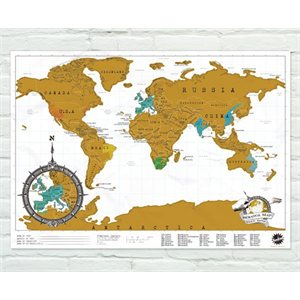 Travel Edition Scratch Map