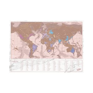 Rose Gold Travel Edition Scratch Map