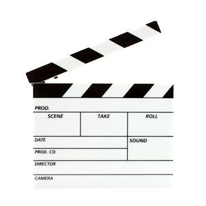 Clap de Cinéma Lumineux Effaçable