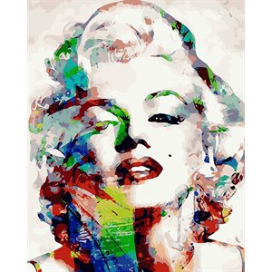 Paint by Numbers Kit-Marilyn(40 x 50)