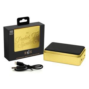 Pocket Tin Speaker Gold