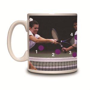 Spot the Ball Mug-Tennis