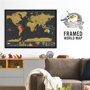 Framed Deluxe Scratch Map