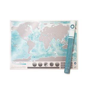 Oceans Edition Scratch Map