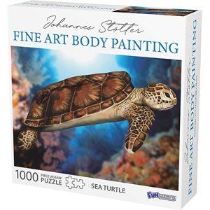 Johannes Stotter Sea Turtle Body Art Puzzle
