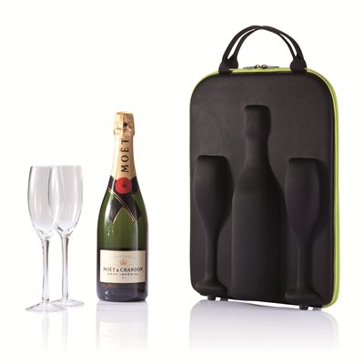 Champagne Carrier with Glasses