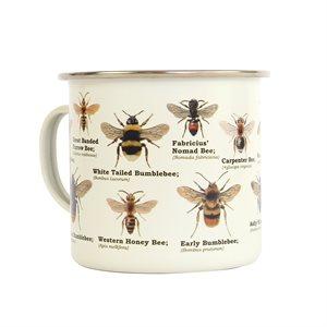 Bee Enamel Mug