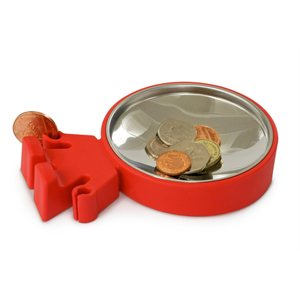Big Head Coin Dish-Red