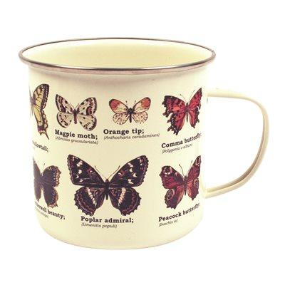 Butterflies enamel mug