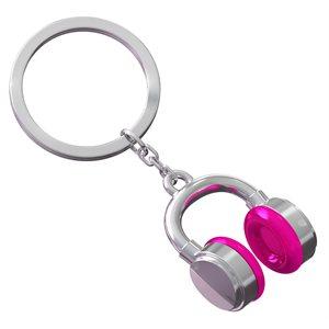 Keychain-MUSIC Fuscia