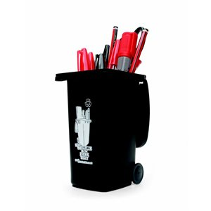 Wheelie Bin Desk Tidy – Black