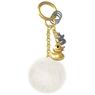 Bag charm-Shiny Gold Duck family